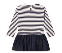 Mayoral Girls Stripe Jumper with Tulle Skirt - Eclipse