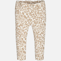Mayoral Baby Girls Floral Jeggings, Stone