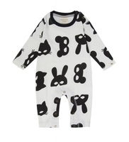 Turtledove London Organic Animal Mask Playsuit
