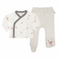 Finn + Emma Organic Cotton Kimono & Footed Pant Set - Fawn