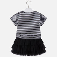 Mayoral Girls Tulle Dress - Black