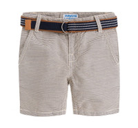 Mayoral Boys Striped Shorts - Gypsum