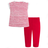 Mayoral Girls Cropped Leggings and Shirt - Red