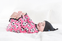 Kickee Pants Print Ruffle Coverall with Snaps - Flamingo Soccer