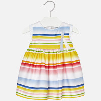 Mayoral Baby Girls Striped Dress - Yellow
