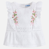 Mayoral Girls Poplin Blouse - White