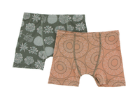 Kickee Pants Boxer Briefs Set of 2 - Succulent Plants & Suede Bead Art