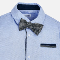 Mayoral Boys Shirt with Bowtie - Light Blue