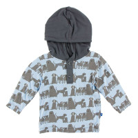 KicKee Pants Print Long Sleeve Hoodie Tee - London Dogs