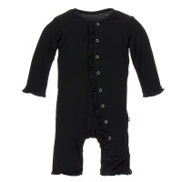 Kickee Pants Basic Ruffle Coverall - Midnight