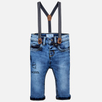 Mayoral Baby Boys Denim Trousers with Suspenders - Basic