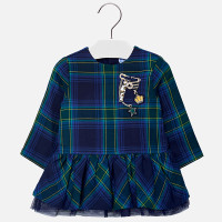 Mayoral Baby Girls Plaid Dress - Navy