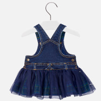 Mayoral Baby Girls Tulle Dress - Navy