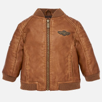 Mayoral Baby Boy Leather Jacket - Brown