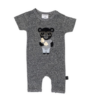 Huxbaby Spade Hux Short Romper - Charcoal