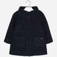 Mayoral Girls Coat - Navy