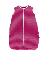 Kickee Pants Quilted Sleeping Bag - Tokyo Dragonfruit Stripe/ Dragonfruit Lantern Festival
