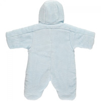 Emile et Rose Blue Deep Pile Fleece Pramsuit - Fargo