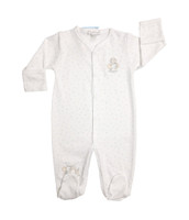 Kissy Kissy 100% Peruvian Pima Cotton Embroidered Shower Me With Love Footie