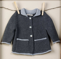 TANE Link Stitch Cardigan - Charcoal+Graphite