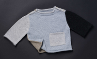 TANE Colorblock Pullover Sweater - Blue Dusk Combo