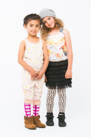 Luna Leggings Footless Tights with Tutu - Tiny Heart