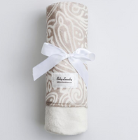 Baby Laundry Double Sided Minky Swaddler - Putty & White