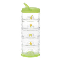 Innobaby Packin' SMART® 5-Tier Stackables - Zoo Animal Green