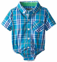Andy & Evan Nothing Else Madras Shirtzie - Teal
