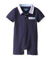 Andy & Evan Romp & Circumstance Polo Romper - Navy