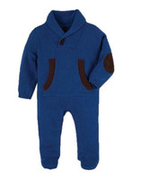 Andy & Evan The Tiniest Toggle Romper - Blue