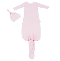Free Birdees - Heavenly Pink Newborn Gown & Hat Set