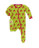 Kickee Pants Cancun Print Footie with Zipper - Meadow Chili Peppers