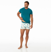 Kickee Pants Cancun Print Men's Boxer Brief - Natural Manta Ray