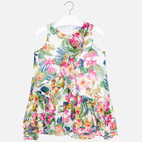 Mayoral Girls Tropical Dress - Nautical