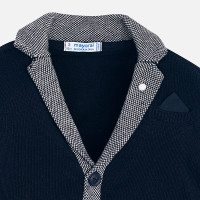 Mayoral Boys Knitted Cardigan - Navy