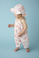 Angel Dear Muslin Romper w/ Bow Back - Peachy