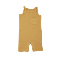 L'OVEDBABY 100% Organic Cotton Thermal Romper - Topaz