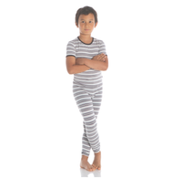 Kickee Pants India Print S/S Pajama Set - India Pure Stripe
