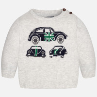 Mayoral Boys Intarsia Sweater - Grey