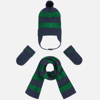 Mayoral Baby Boys Beanie and Scarf Set - Green