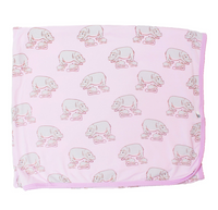 Pale Orchid Hippos Swaddling Blanket
