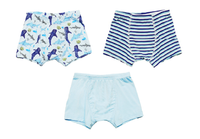 Ocean Blue Sharks Boys Boxer Set of 3