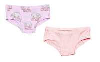 Pale Orchid Hippo Girls Underwear Set of 2