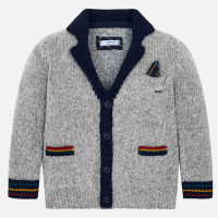 Mayoral Boys Grey Knitted Cardigan