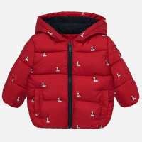Mayoral Baby Boys Red Printed Coat