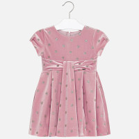 Mayoral Girls Pink Velvet Dress