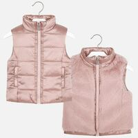Mayoral Girls Pink Reversible Vest