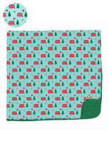 Holiday Airstream & S'mores Toddler Blanket