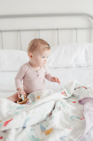 Loulou Lollipop Muslin Swaddle - Mermaids and Narwhals